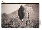 An Elephant Walking In The Bush Samburu Carry-all Pouch