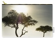 An Elephant Walks Among The Trees Kenya Carry-all Pouch