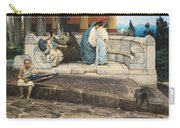 An Exedra Carry-all Pouch by Sir Lawrence Alma-Tadema