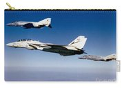 An F-14 Tomcat And Two F-4 Phantom IIs Carry-all Pouch