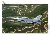 An F-16 Fighting Falcon Flies Near Base Carry-all Pouch