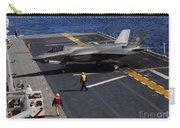 An F-35b Lightning II Makes A Vertical Carry-all Pouch