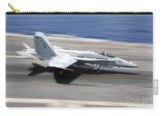 An Fa-18e Super Hornet Lands Aboard Uss Carry-all Pouch