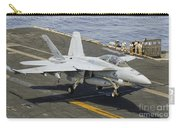 An Fa-18e Super Hornet Trap Landing Carry-all Pouch