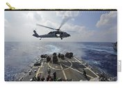 An Mh-60r Sea Hawk Transfers Supplies Carry-all Pouch