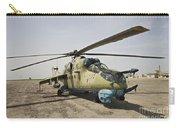An Mi-35 Attack Helicopter At Kunduz Carry-all Pouch
