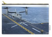 An Mv-22 Osprey Lands Aboard Carry-all Pouch