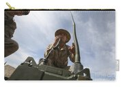 An Officer Conducts A Radio Check Carry-all Pouch by Stocktrek Images