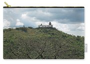An Old Temple Building On Top Of A Hill With A Lot Of Clouds In The Sky Carry-all Pouch