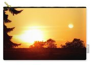 Photograph Of The White Hot Sun On An Orange Horizon With Lens Flare Carry-all Pouch