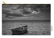 Anchored Row Boat Looking Out To Sea Carry-all Pouch