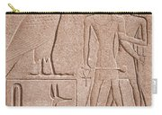 Ancient Stone Carvings, Karnak, Egypt Carry-all Pouch