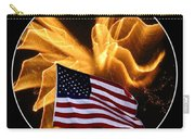 Angel Fireworks And American Flag Carry-all Pouch by Rose Santuci-Sofranko