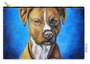 American Staffordshire Terrier Dog Painting Carry-all Pouch
