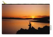 Angler At Sunset, Roaring Water Bay, Co Carry-all Pouch