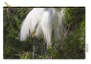 Angry Bird Snowy Egret In Breediing Plumage Carry-all Pouch