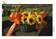 Antique Buggy And Sunflowers Carry-all Pouch
