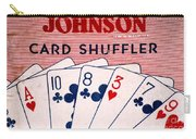 Antique Card Shuffler Carry-all Pouch