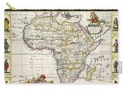 Antique Map Of Africa Carry-all Pouch