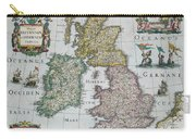Antique Map Of Britain Carry-all Pouch by English School