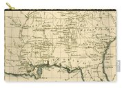 Antique Map Of Louisiana And Florida Carry-all Pouch by Guillaume Raynal