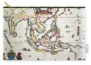 Antique Map Showing Southeast Asia And The East Indies Carry-all Pouch by Willem Blaeu