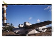 Antique Navy Seaplane Parked In Front Carry-all Pouch by Michael Wood