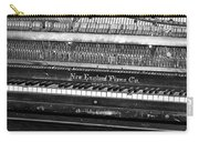 Antique Piano Black And White Carry-all Pouch