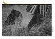 Antique Tractor Bucket In Black And White Carry-all Pouch by Jennifer Ancker