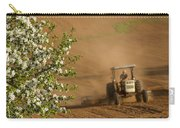 Apple Blossoms And Farmer On Tractor Carry-all Pouch