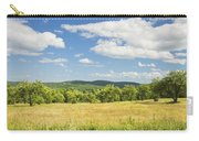 Apple Trees And Hay Field In Summer Maine Carry-all Pouch