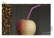 Apple With Straw Carry-all Pouch