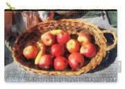 Apples And Bananas In Basket Carry-all Pouch