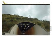 Approaching A Tunnel On A Highway In England Carry-all Pouch