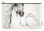 Arabian Horse Drawing 41 Carry-all Pouch