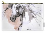 Arabian Horse Ink Drawing 1 Carry-all Pouch