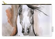 Arabian Horse Ink Drawing 2 Carry-all Pouch