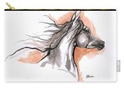 Arabian Horse Ink Drawing 3 Carry-all Pouch