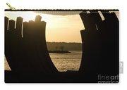 Arcs Sunset Bernar Venet Sculpture Sunset Beach Park Vancouver Bc Canada Carry-all Pouch