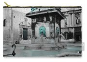 Arles Fountain With A Spot Of Color Carry-all Pouch