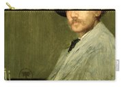 Arrangement In Grey - Portrait Of The Painter Carry-all Pouch by James Abbott McNeill Whistler