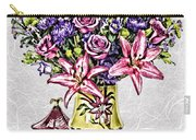 Arrangement In Pink And Purple On Rice Paper Carry-all Pouch