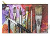 Art Is Messy 6 Carry-all Pouch by Carol Leigh