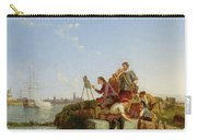 Artist At His Easel And Shipping Beyond Carry-all Pouch