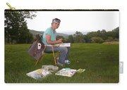 Artist In Action En Plein Air Carry-all Pouch