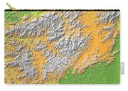 Artistic Map Of Southern Appalachia Carry-all Pouch
