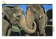 Asian Elephant Elephas Maximus Pair Carry-all Pouch