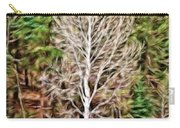 Aspen Tree On A Forest Road Carry-all Pouch