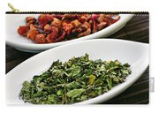 Assorted Herbal Wellness Dry Tea In Bowls Carry-all Pouch