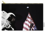 Astronaut Stands Next To The American Carry-all Pouch